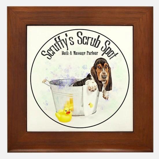 Scruffys Scrub Spot Framed Tile
