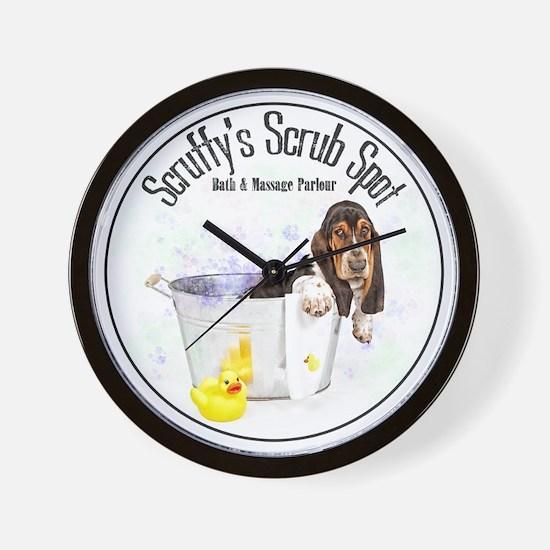 Scruffys Scrub Spot Wall Clock
