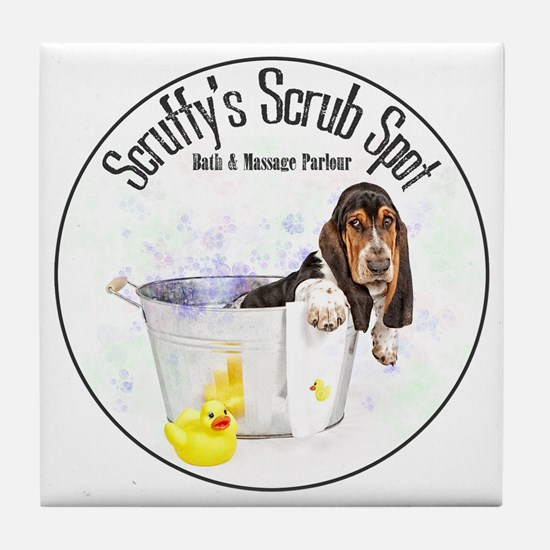 Scruffys Scrub Spot Tile Coaster
