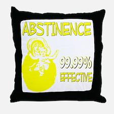 ABSTINENCEDARK Throw Pillow