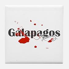 Galapagos Diver Tile Coaster