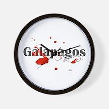Galapagos Diver Wall Clock