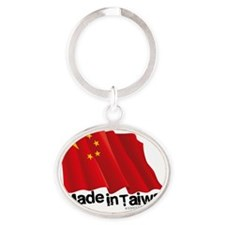 Made In Taiwan shirts - Chinese flag Oval Keychain
