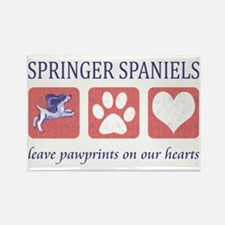 FIN-springer-spaniels-pawprints-C Rectangle Magnet