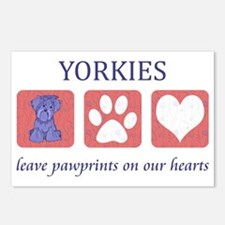FIN-yorkies-pawprints-CRO Postcards (Package of 8)