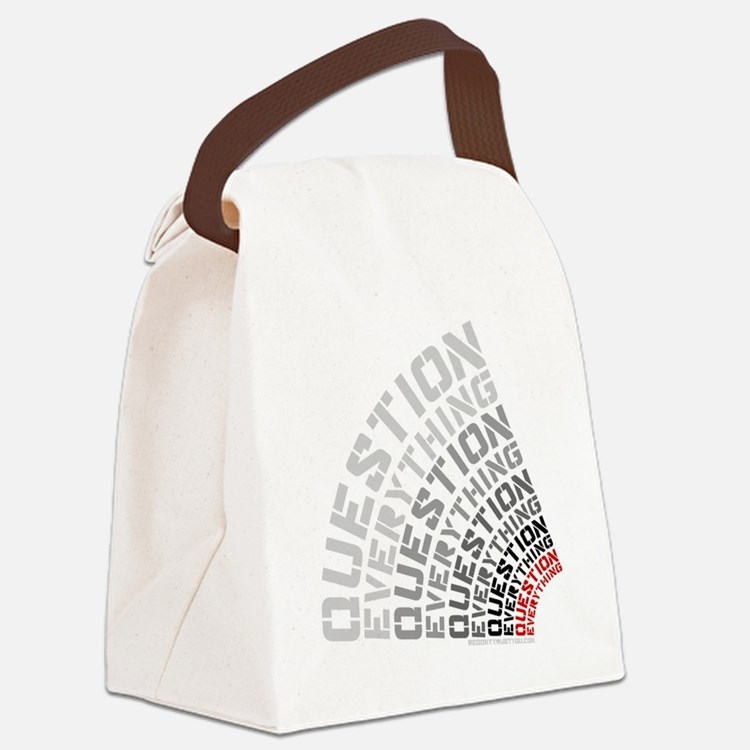 Question Everything free thinkers Canvas Lunch Bag
