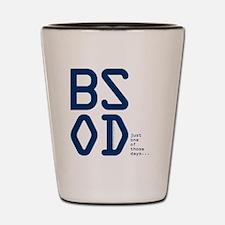 BSOD - blue screen of death computer ne Shot Glass