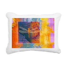 flamingDragonflyBlanket Rectangular Canvas Pillow