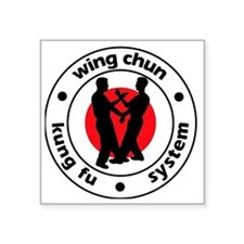"WingChunNewLogo Square Sticker 3"" x 3"""