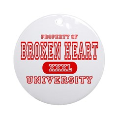 Broken Heart University Ornament (Round)