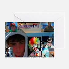 2-superjewtv1 logo Greeting Card