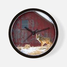 coyote barn Wall Clock