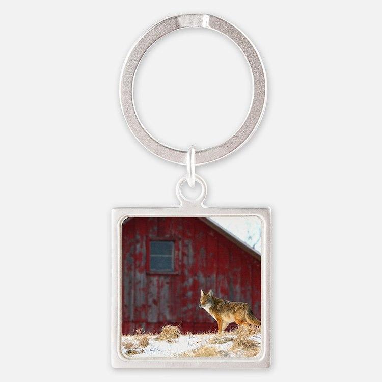 coyote barn Square Keychain