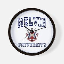 MELVIN University Wall Clock