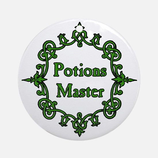 Potions Master, Large Clear Round Ornament
