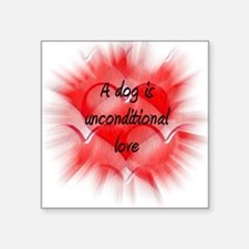 "unconditional_love_5aa Square Sticker 3"" x 3"""