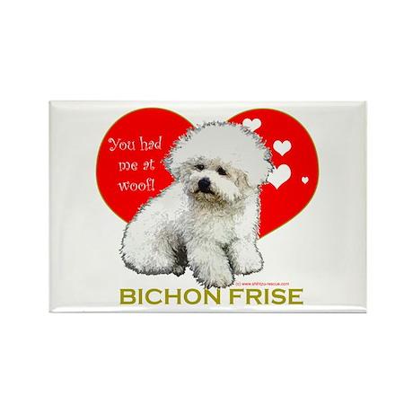 Bichon Frise Valentine Heart Rectangle Magnet