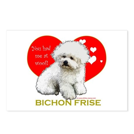 Bichon Frise Valentine Heart Postcards (Package of