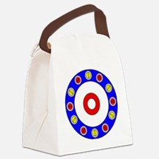 Curling Clock Canvas Lunch Bag