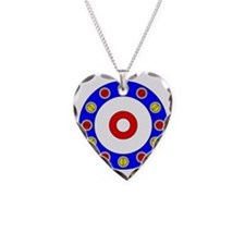 Curling Clock Necklace Heart Charm
