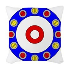 Curling Clock Woven Throw Pillow