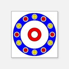 """Curling Clock Square Sticker 3"""" x 3"""""""