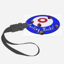 Curling Rocks WC Luggage Tag