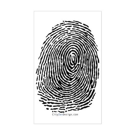 fingerprint_BW Sticker (Rectangle)