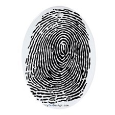 fingerprint_BW Oval Ornament