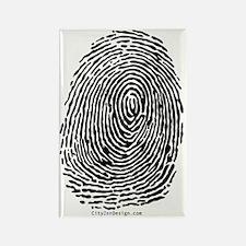 fingerprint_BW Rectangle Magnet