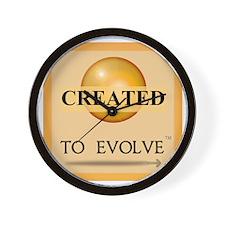 3--Created to Evolve -Orange Wall Clock