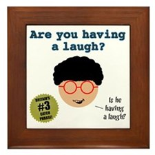 Having a laugh-1 Framed Tile