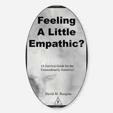 2-Empathic-cover Sticker (Oval)