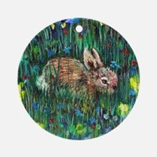 Baby Bunny2 Round Ornament