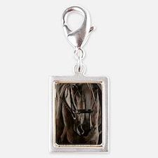 morgrey Silver Portrait Charm