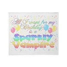 sparklyvampirebirth2 Throw Blanket