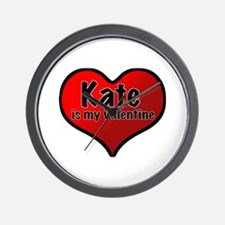 Kate is my Valentine Wall Clock