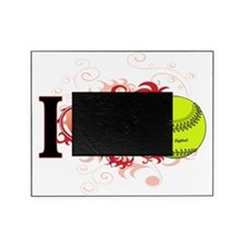 l love Softball Picture Frame