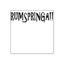 "rumspringa Square Sticker 3"" x 3"""