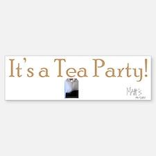 Its a Tea Party Bumper Bumper Sticker
