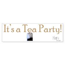 Its a Tea Party Bumper Sticker