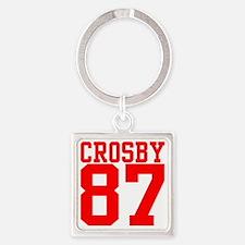 crosby2.gif Square Keychain