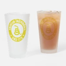 AIYellowSnake Drinking Glass