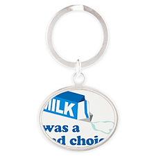 MilkChoice Oval Keychain