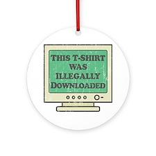 IllegDown Round Ornament