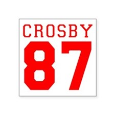 "2-crosby.gif Square Sticker 3"" x 3"""