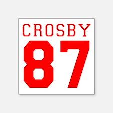"""2-crosby.gif Square Sticker 3"""" x 3"""""""