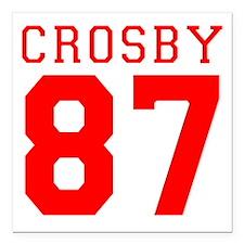 "2-crosby.gif Square Car Magnet 3"" x 3"""