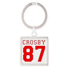 2-crosby.gif Square Keychain