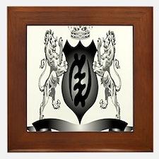 2-Afro-Crest Framed Tile